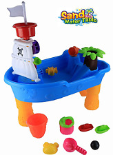 PIRATE SHIP SAND & WATER PLAY TABLE  KIDS OUTDOOR GARDEN SANDPIT TOY SET 341