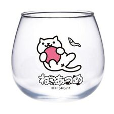 Neko Atsume Kitty Collector Glass Cup Mug Snowball Cat Japan Kawaii *US Seller*