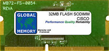 32MB FLASH SODIMM CISCO 871/871W/876 ADSL/877 ADSL/878/878W ROUTERS (MEM870-32F)