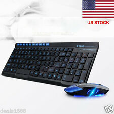 Wireless 2.4GHz Gaming Keyboard and USB Mouse Combo Set For PC Laptop Computer