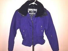 NILS SKIWEAR DEEP PURLE SKI JACKET SZ 6 VELVET COLLAR DOWN 550-FILL **MINT!