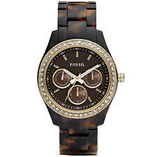 Fossil Uhr Stella ES2795 Damenuhr Braun Edelstahl Strass Lady Watch NEU & OVP