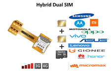 Hybrid Double Dual SIM Card Micro SD Adapter for Android