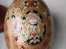 VINTAGE ORIENTAL decorata a altamente Gilded grandi display UOVO LEGNO MOUNT