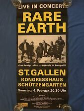 Vintage RARE EARTH Concert Poster St. Gallen Switzerland Guitarist Ray Monette
