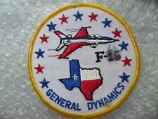 Patch- USAF F-16 General Dynamics Patch (New*apx. 10.5x10.5 cm)