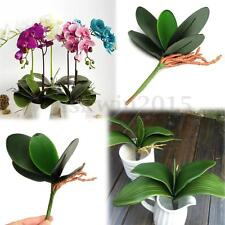 2pcs Green Hand Make Butterfly Orchid Flower Leaf Bush Grass Home Plant Decor