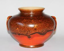 Antique Art Deco Large Rumrill Pottery Vase Uranium Chrome Orange Stangl Haeger