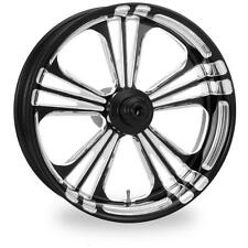 """PM ICON CONTRAST CUT PLATINUM 18"""" WHEELS PACKAGE SET TIRES HARLEY FLH/FLT 09-15"""