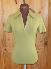 MEXX CREW pea green stretch short sleeve polo golf shirt t-shirt top BNWT S 8-10