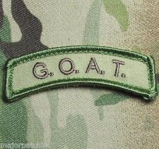 GOAT GREATEST OF ALL TIME ARMY USA MILITARY MULTICAM HOOK & LOOP MORALE PATCH