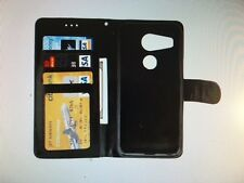 Google Nexus 5X Fitted Flip Wallet Diary-style (Horizontal) Leather Case - Black