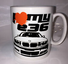 Kaffeetasse Koffee Cup BMW E36 3er M Cult I Love my E36 Tasse FRONT Racing cool