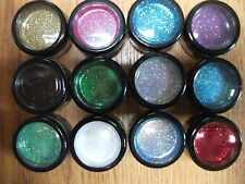 WOLFE BROTHERS ART & FX SET OF 12 GLITTERS FOR MAKEUP/FACEPAINT