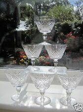 1960s Webb Corbett Crystal 6 Champagne Bowls Rare Pattern similar to Juno Signed