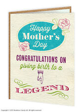 """Brainbox Candy Mother's Day """"Congratulations"""" greeting card mum humorous funny"""