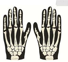 BONE PRINT SKELETON GLOVES UNISEX HALLOWEEN  FANCY DRESS PARTY ACCESSORY