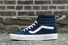 Vans SK8 Hi Reissue 10 oz Canvas Dress Blues Hi Top Skate Shoes Size 9.5