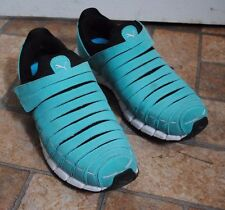 Puma Osu NM Womens Running Sneakers Athletic Shoes Size 10.5 Teal Blue Velcro