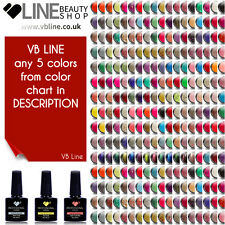 Cualquier 5 Colores vb ® Line LED/UV Soak Off Nail Polish de 200 Colores de Gel de Color