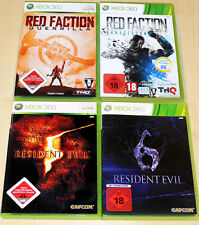 4 XBOX 360 SPIELE SAMMLUNG RESIDENT EVIL 5 6 RED FACTION ARMAGEDDON GUERRILLA 18