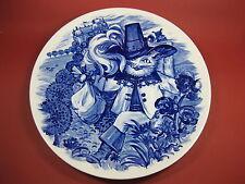 Meissen Wandteller Weihnachten 1980  Märchen Top Zustand  der gestiefelte Kater