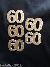 5 x Holzzahl 60 goldene Hochzeit Streudeko Scrapbooking Einladung Jubiläumszahl