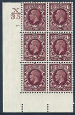 1934 1+1/2d Photogravure cyl blk X35 130 No Dot perf 5(E/I)  UNMOUNTED MINT