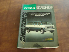Chilton's Repair Manual Chevy/GMC Full Size Vans, 1987-90 US & CANADA