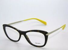 BRAND NEW PRADA VPR 09R 2AU-1O1 TORTOISE EYEGLASSES AUTHENTIC RX VPR09R 53-17