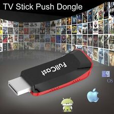 TV STICK PUSH GOOGLE CHROMECAST DONGLE Airplay DLNA Miracast MEDIA PLAYER USB