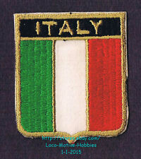 LMH PATCH Woven Badge  ITALY Italia ITALIAN FLAG Tribar Tricolor Green White Red