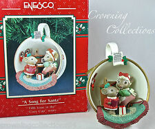 Enesco A Song for Santa Mice Treasury of Christmas Ornament Cozy Cup Series 5th