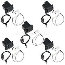 5 Sets Piezo Cable Pickup EQ Preamp For Ukulele/Mini Guitar