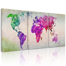 HD Colorful Map Canvas Prints Home Decor Paintings Large Wall Art DIY WITH FRAME