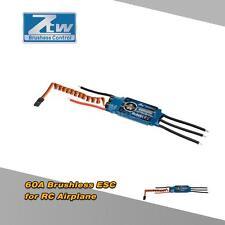 ZTW Beatles 60A 2-6S LiPo Battery Brushless ESC +5.5V SBEC for Airplane New V2O6