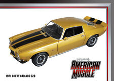 1971 Camaro Z28 PLACER GOLD 1:18 Auto World 968