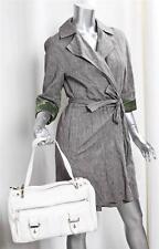MARC JACOBS White Leather Shoulder Bag Zip Front Handbag Purse Tote Satchel