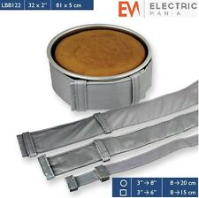 "PME Cake Level Baking Cooking Bands Belt Square / Round Tin Pan 32 "" x 2 "" Inch"