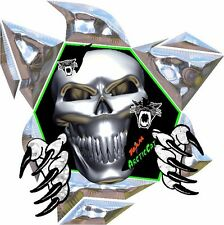 Lg Arctic Cat Rip Tear Skull Trailer Decal, Decals,stickers,sticker Snowmobile