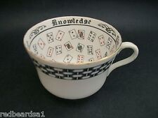 China Replacement Cup of Knowledge Tea Leaf Reading Cards Jackson Gosling c1950s