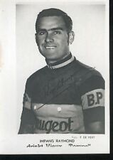 Raymond IMPANIS Peugeot BP Cyclisme Cycling Ciclismo repro Photo of Signed card