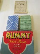 1942 Parker Brothers RUMMY and Other Games Home Edition Card Game, Box, Rule Bk!