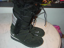 2006 Nike Womens Black Suede Faux Fur Winter High Boots! Size 7 $109.95