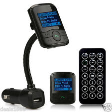 LCD Car Kit Bluetooth MP3 Player FM Transmitter Modulator SD MMC USB A2DP Remote