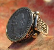 Authentic Ancient Roman Emperor Philip Silver Coin Ring!