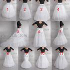WHITE BRIDAL wedding petticoat underskirt crinoline prom dress bridal slip skirt