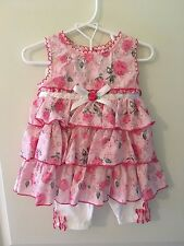 NWT Lot of 2 2T Dresses - Girly Flowers Easter Lace Pink Neon
