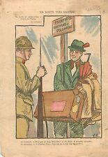 Caricature Politique Drôle de Guerre Dantzig Gdansk Danzig Poland  WWII 1939