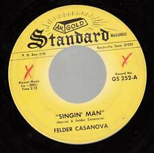 HEAR! Country Bopper 45 FELDER CASANOVA Singin' Man on Standard